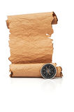 Hand made paper scroll Royalty Free Stock Photography