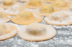 Hand made pasta Stock Images