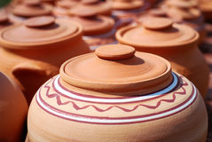 Hand Made Pottery Royalty Free Stock Image