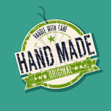Hand made product tag stock images