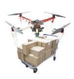 Hand made quadcopter drone Royalty Free Stock Photography