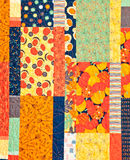 Hand made Quilt. A hand made quilt with a seasonal or Halloween theme Royalty Free Stock Photo