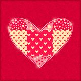 Hand Made Red Heart. Stock Photos