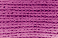 hand made red wool knitted fabric Royalty Free Stock Photos