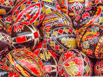traditional romanian easter egg design Stock Photos