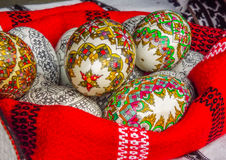 traditional romanian easter egg design Stock Image