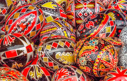 traditional romanian easter egg design Stock Photography