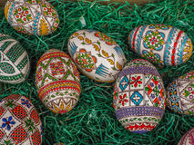 traditional romanian easter egg design Stock Photo
