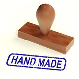 Hand Made Rubber Stamp Shows Handmade Products Royalty Free Stock Photos