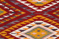 Hand made rug. In the bazaar Royalty Free Stock Photo