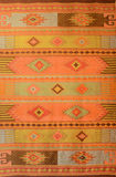 Hand made Rug. Colorful rug, hand made at Oaxaca, Mexico royalty free stock images