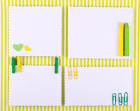 Hand made set in green and yellow tones Stock Image
