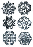 Hand made snowflakes Royalty Free Stock Photo