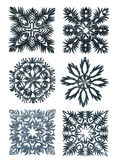 Hand made snowflakes Royalty Free Stock Images