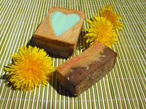Hand-made soap Stock Images