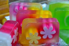 hand-made-soap Stock Photo