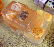 Hand-made Soaps with Shells Royalty Free Stock Photo