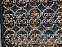 Hand made solid iron grille Royalty Free Stock Photography