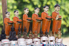 Hand made souvenirs on the market in Inle Lake. Myanmar Royalty Free Stock Images