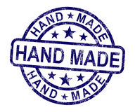 Hand Made Stamp Shows Original Handmade Artwork Royalty Free Stock Photo