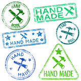 Hand Made Stamps Royalty Free Stock Photography
