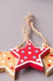 Hand made star shape christmas tree decorations Stock Photo
