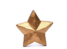 Goldn star. Hand made star on white background Royalty Free Stock Photo