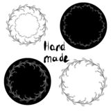 Hand made stickers tag set. royalty free illustration