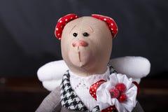 Hand made teddy bear Royalty Free Stock Photography