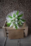 A hand made and tied posy is a fairly tightly formed bouquet, perfect for a bride who likes simple clean lines with minimal fuss. Wedding flowers for the bride stock images