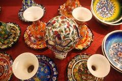 Hand made tila vase. Hand made china vase on ceramics Stock Image