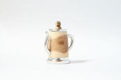 Hand made tin wood thimble with tin Royalty Free Stock Photo