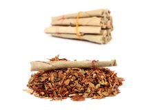 Hand-made tobacco cigarettes Royalty Free Stock Image