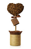 Hand made topiary of coffee beans Stock Photo