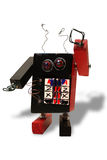 Hand made toy robot Stock Image