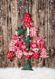 Hand made traditional christmas decoration on wood Stock Photo