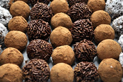 Hand Made Truffles Stock Photography