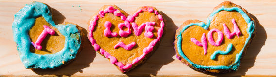 Hand made Valentine's Day cookies Royalty Free Stock Photo