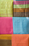 Hand Made Variety Pattern Thai Silk Stock Photos