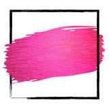 Hand made vector pink paint stroke glitter texture Royalty Free Stock Photo