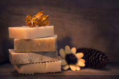 Hand made vegan soap Royalty Free Stock Photos