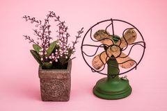 Hand Made Ventilator Antique Imitation Electric Fan Trinket Stock Images