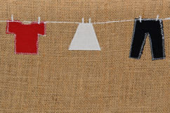 Hand made washing line design Royalty Free Stock Image