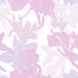 Hand made watercolor  iris flowers silhouettes seamless pattern Royalty Free Stock Photo