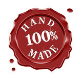 Hand Made Wax Seal Guarantee Stock Photography