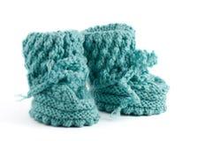 Hand made whool socks Stock Photos