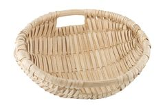 Hand made wicker basket Stock Photo
