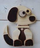 Hand made wood dog toy Stock Image