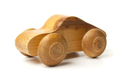Hand Made Wood Toy Car royalty free stock image