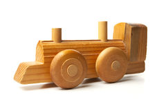 Hand Made Wood Toy Train Stock Image
